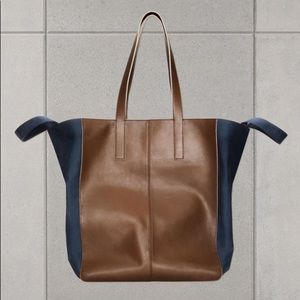 Marni x H&M Leather Tote Extra Large Brown